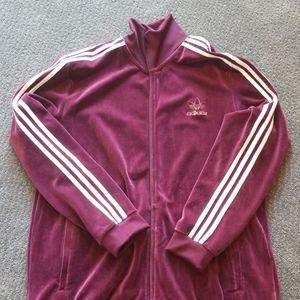 Adidas velour zip up